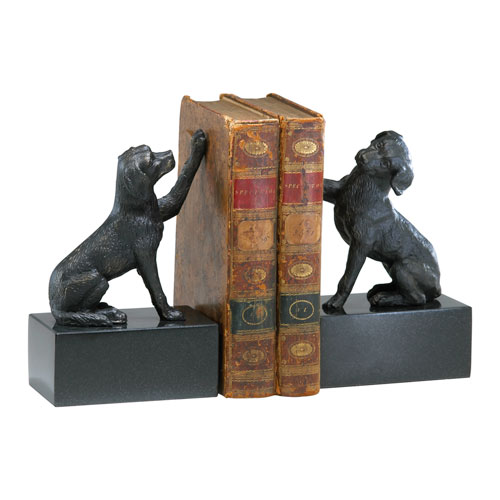 Old World Dog Bookends, Set of Two