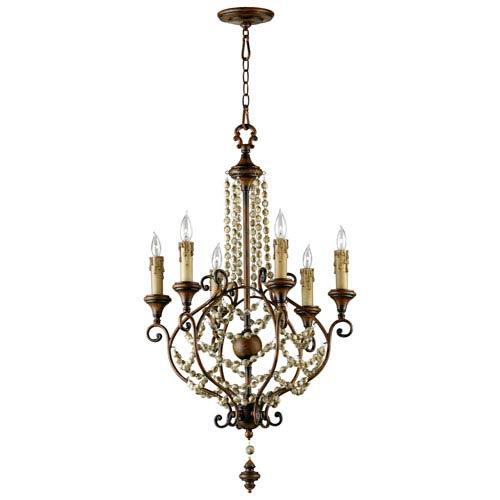 Meriel Antique Sienna Six-Light Chandelier