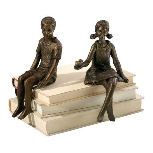 Oiled Bronze Boy Shelf Figurine