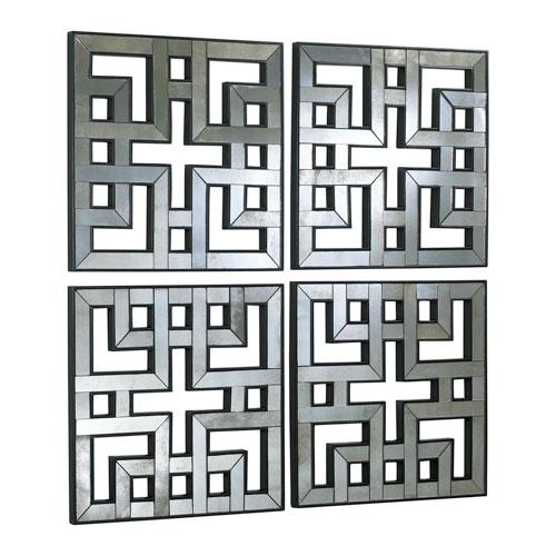 Akari Old World Mirror Panels, Set of Four