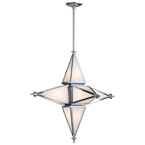 Chrome Six-Light Star Pendant