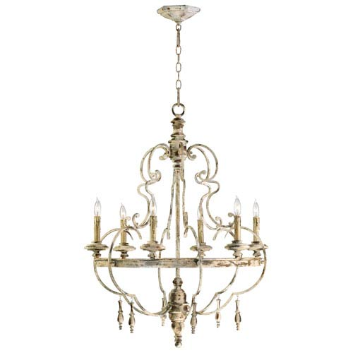 Davinci Persian White Six-Light Chandelier