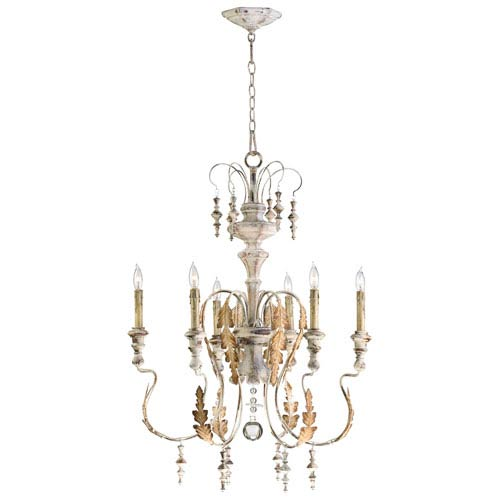 Motivo Persian White Six-Light Chandelier