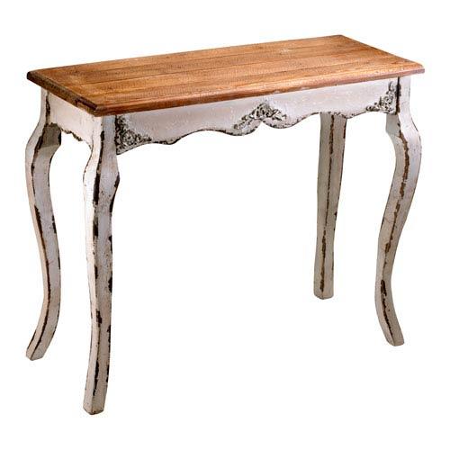 Antique White Console Table Bellacor