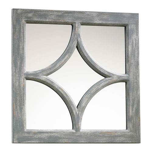 Ashton Distressed Gray Mirror