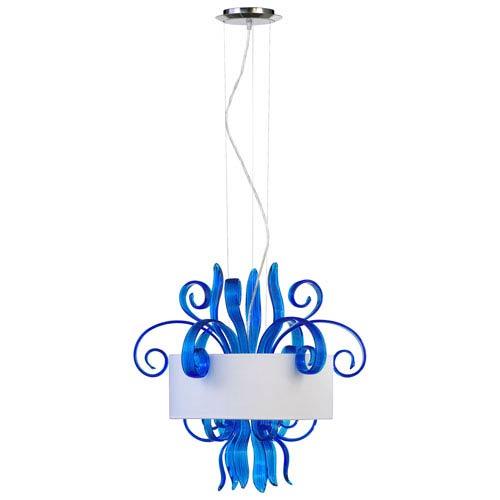 Jellyfish Cyan Blue Three-Light Pendant