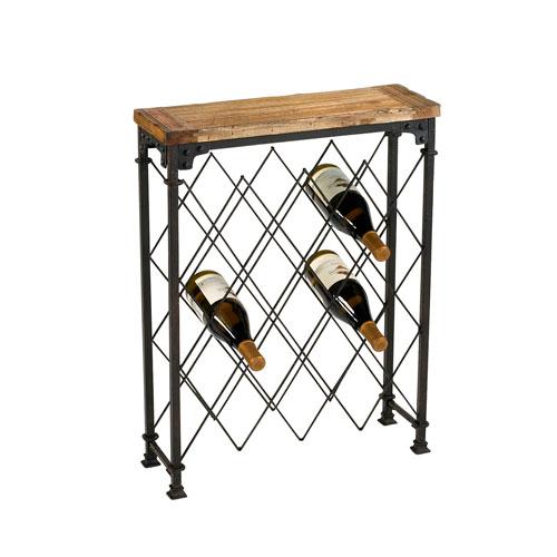 Hudson Rustic Wine Rack