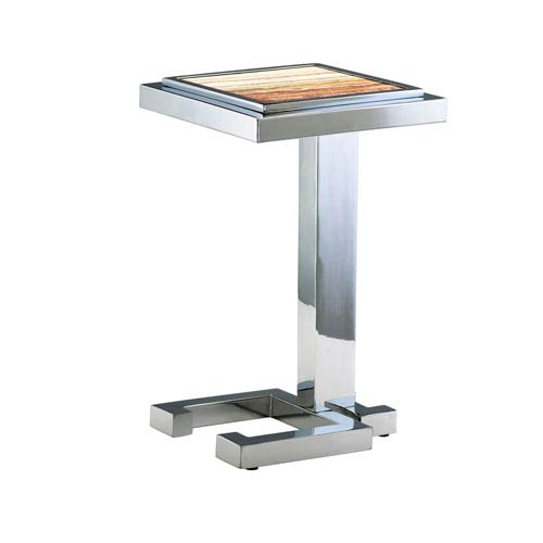 Tandy Chrome Accent Table