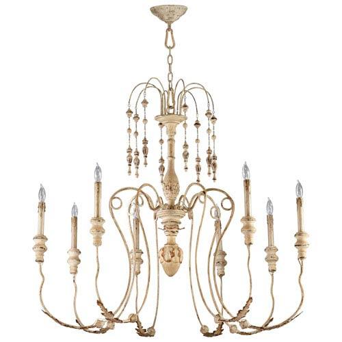 Maison Perisan White Eight-Light Chandelier