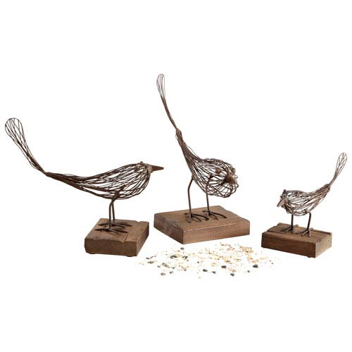 Rustic Small Birdy Sculpture Only