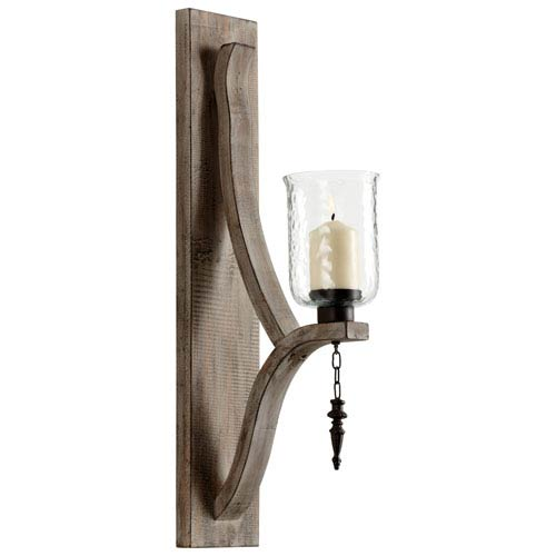 Giorno Washed Oak Wall Candleholder