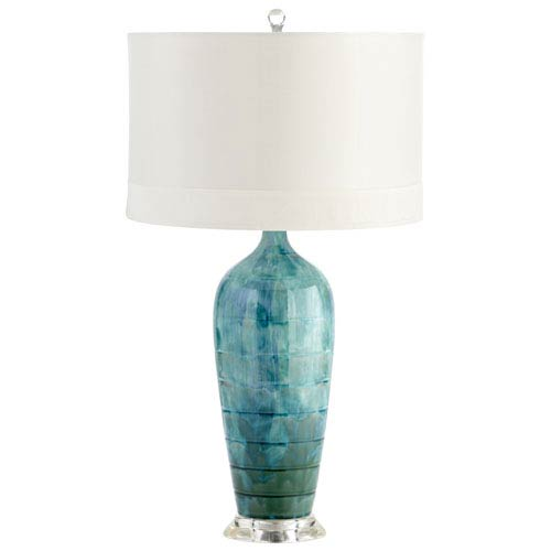 Cyan Design Elysia Blue Glaze One Light Table Lamp 05212 Bellacor