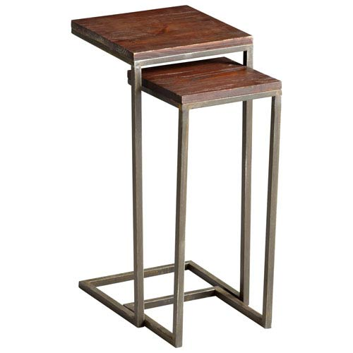 Kirby Walnut and Graphite Nesting Tables