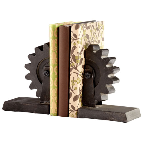 Raw Steel Gear Bookends