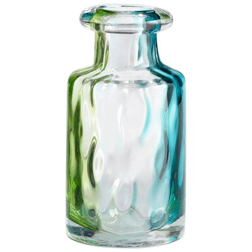 Rigby Green Blue and Clear Small Vase