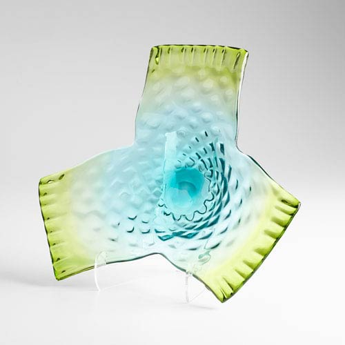 Green and Blue Three Dreams Plate