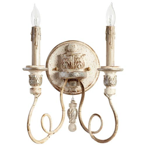 Florine Persian White and Mystic Silver Two-Light Wall Sconce
