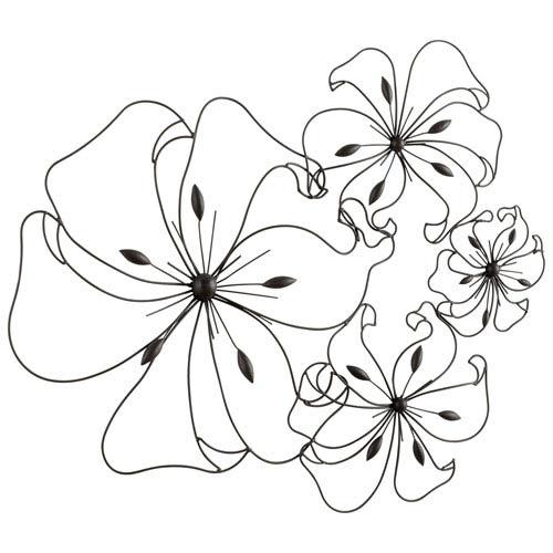 Cyan Design Graphite Fancy Flower Wall Art 05832   Bellacor