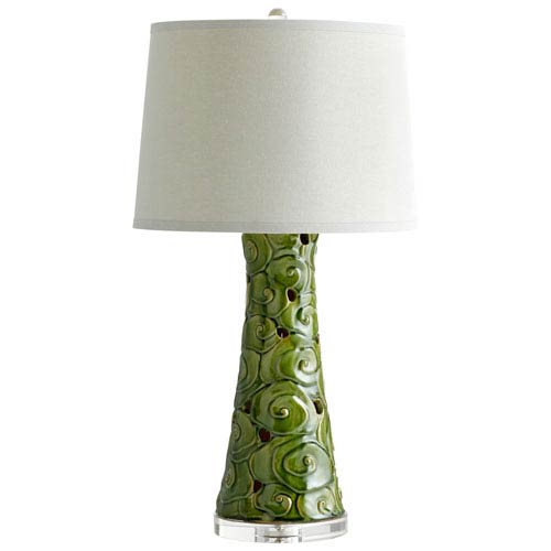 Eva Emerald Glaze One-Light Table Lamp
