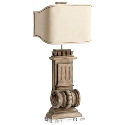 Loft Limed Gracewood Two-Light Table Lamp