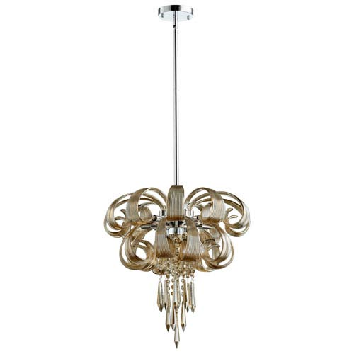 Cindy Lou Who Chrome Seven-Light Chandelier