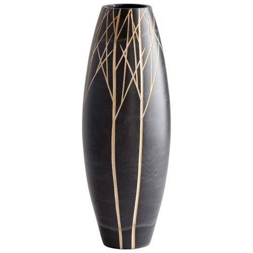 Cyan Design Black Winter Vase