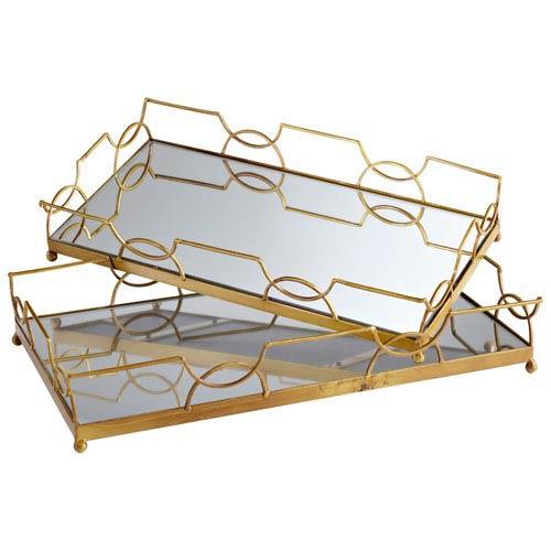 Nephrite Antique Gold Trays