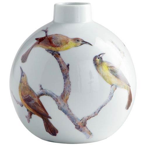 White Small Aviary Vase