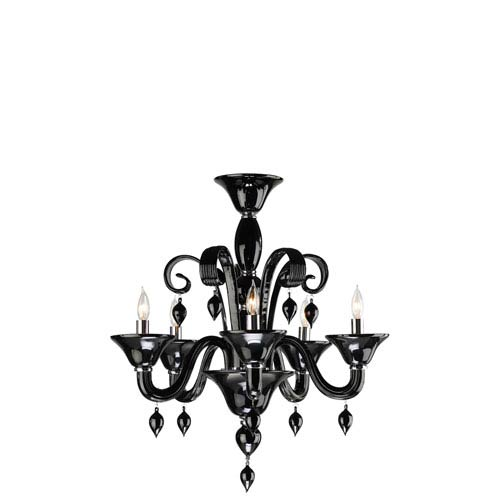 Cyan Design Treviso Five-Light Black Chandelier