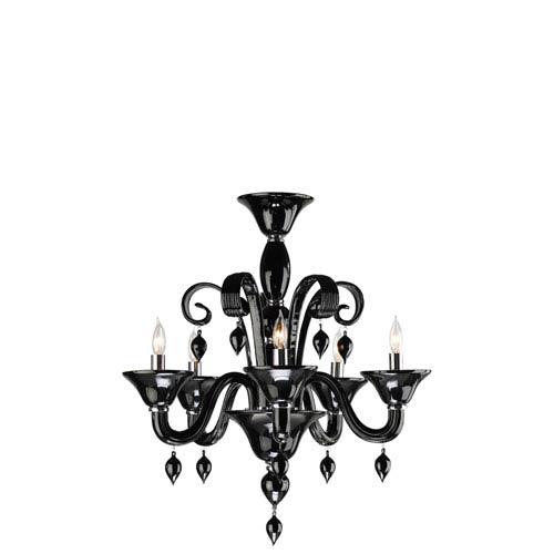 Cyan design treviso five light black chandelier 6494 5 14 bellacor cyan design treviso five light black chandelier aloadofball Images