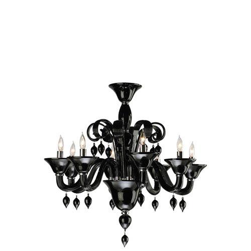 Treviso Eight-Light Black Chandelier