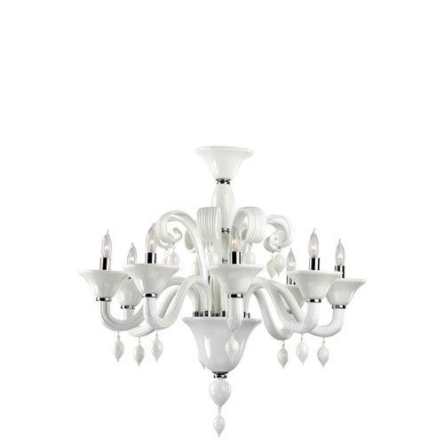 Cyan Design Treviso White Eight-Light Chandelier