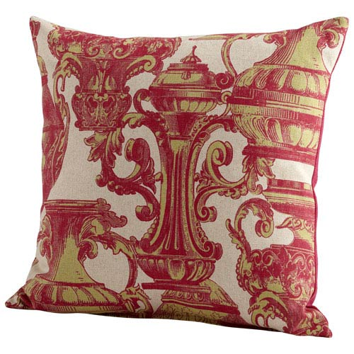 Pink Urn Your Keep 22-Inch Pillow