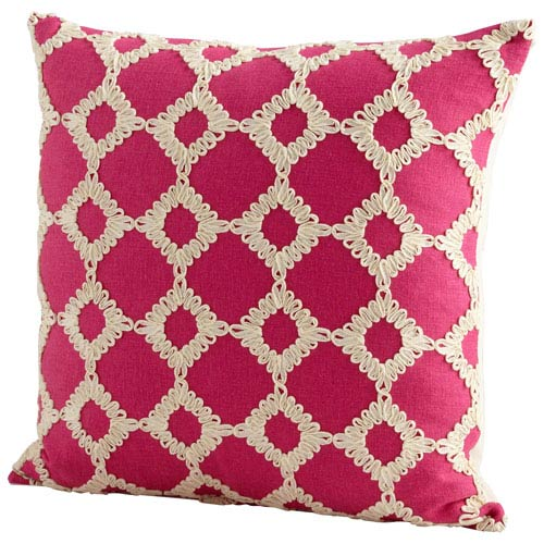 Pink Repeat After Me 18-Inch Pillow