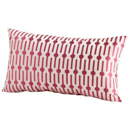 Line Drive Pink 14 x 24-Inch Pillow