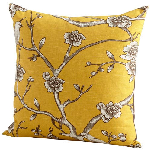Yellow 22-Inch Nature Lover Pillow
