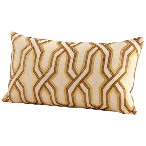 Yellow Twist And Turn 14 x 24-Inch Pillow