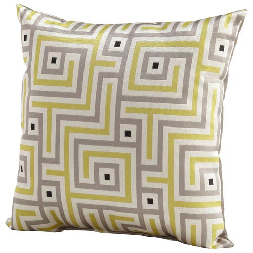 Lime Green 18-Inch Maze Pillow