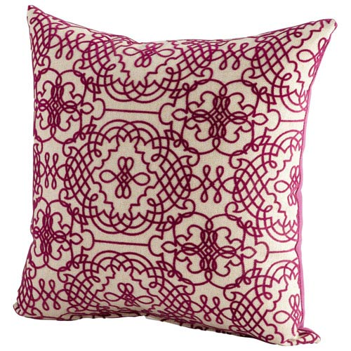 St. Lucia Purple and White 18-Inch Pillow
