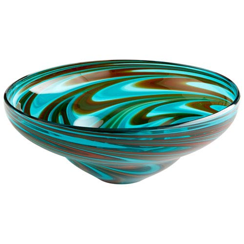 Woodstock Amber and Blue Bowl