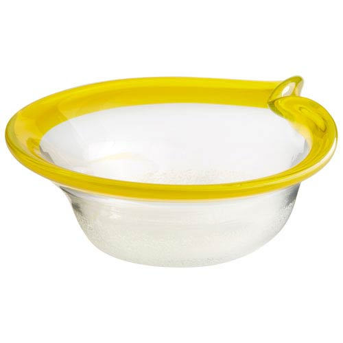 Saturna Yellow and Clear Small Bowl