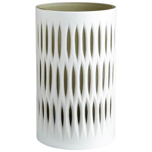 Marquise White and Smoked Small Vase