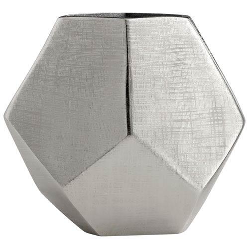 Vulcan Textured Nickel Large Vase