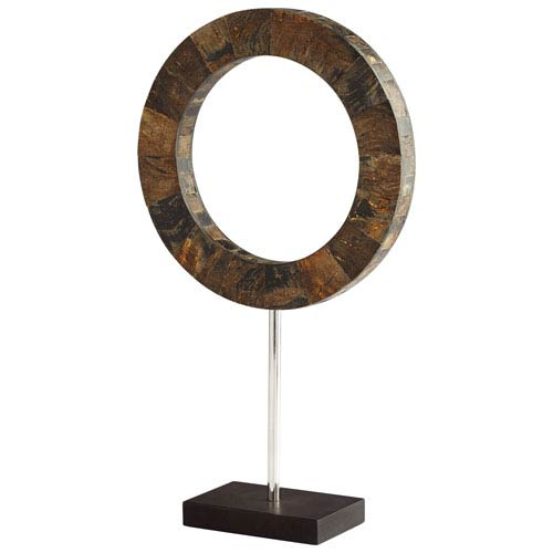 Brown and Stainless Steel Medium Portal Sculpture