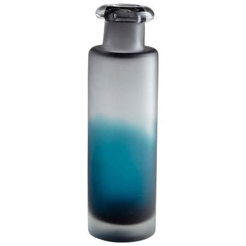 Neptune Blue and Clear Vase