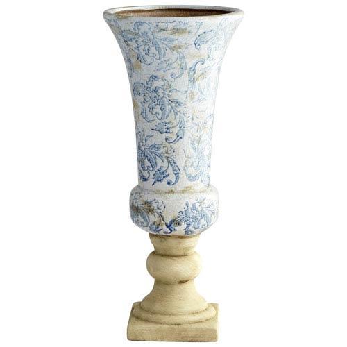 Baroque Blue and White Planter