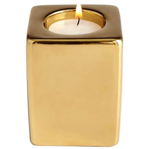 Etta Gold Small Candleholder