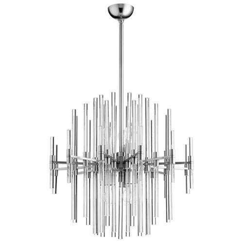 Quebec Satin Nickel Six-Light Pendant