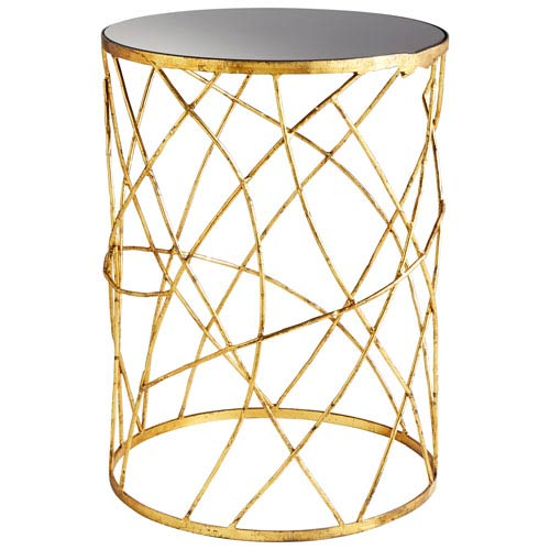 Esca Gold and Black Side Table