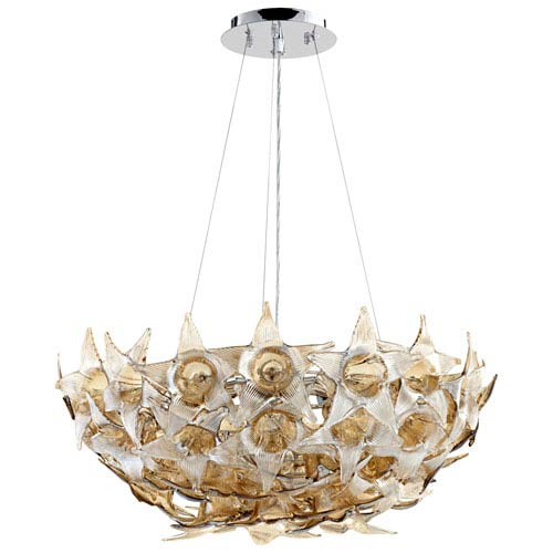 Moon Lillie Cognac Seven-Light Pendant